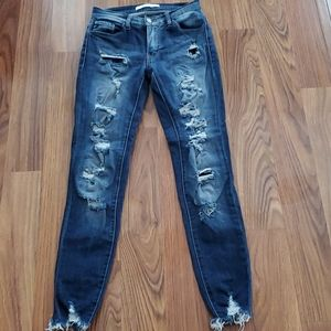 KanCan Estilo Distressed Raw Hem Jeans Size 1/24